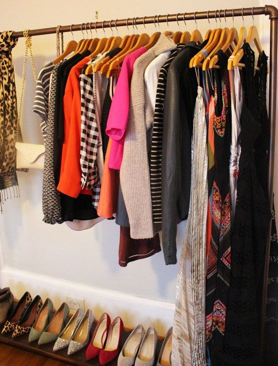 I Have The Tiniest Closet Of Life This DIY Is A Great Way To - Cool diy coat rack for maximizing closet space