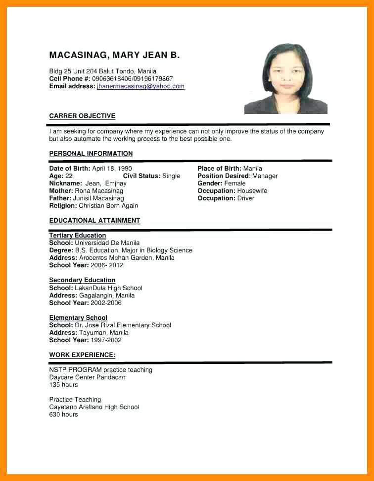 Resume Format Uae Format Resume Resume Format Pinterest