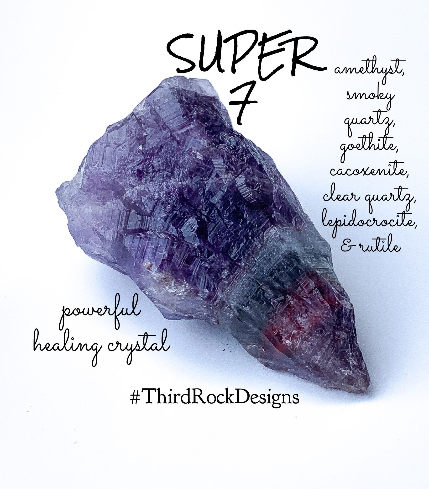 This gorgeous high vibration healing Super 7 crystals is available ...
