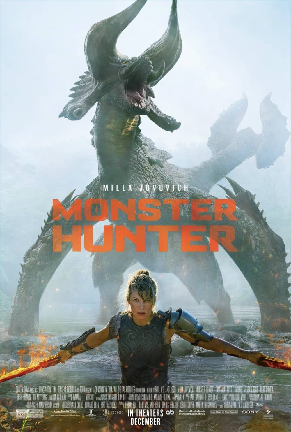 Monster Hunter Movie Trailer And Poster Seat42f Hunter Movie Monster Hunter Movie Milla Jovovich