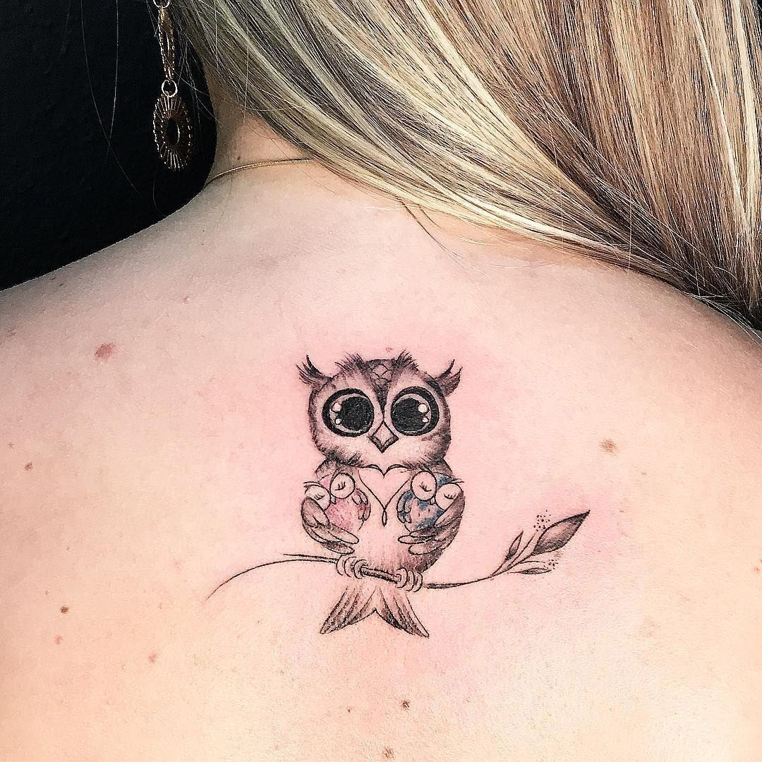 Cool 33 Awesome Owl Tattoo Design For All Time Http Klambeni Com Index Php 2019 02 11 33 Awesome Owl Tatto Cute Owl Tattoo Baby Owl Tattoos Owl Tattoo Design