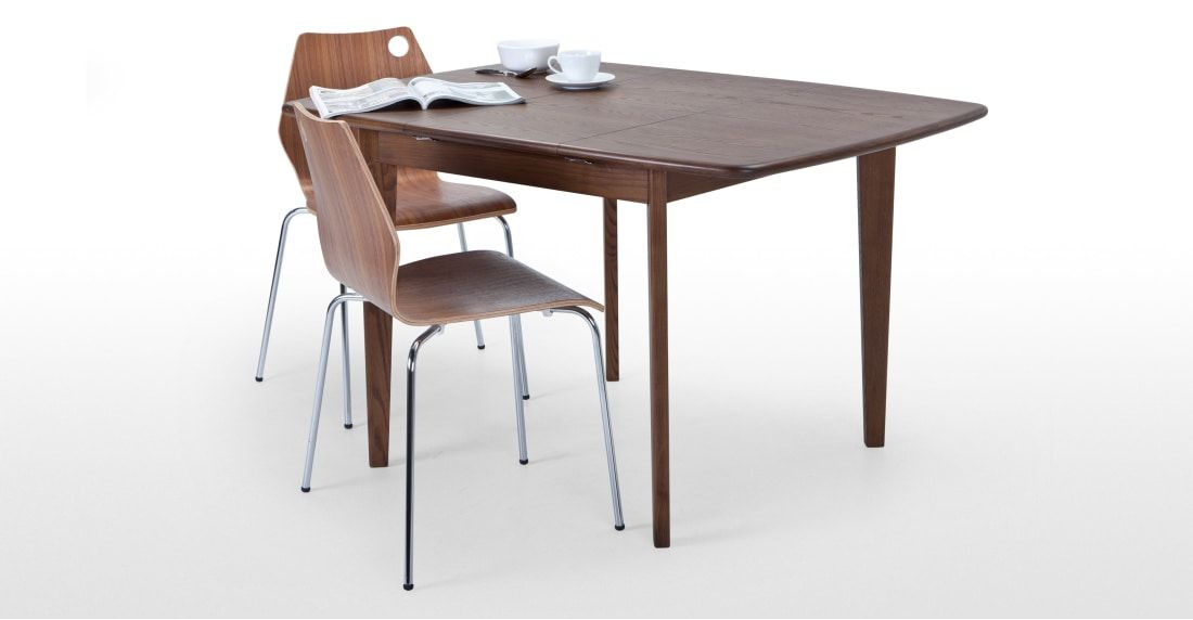 Monty 2 4 Seat Extending Dining Table Dark Stain Ash 313 Hill House Extendable Dining Table Dining Table Table