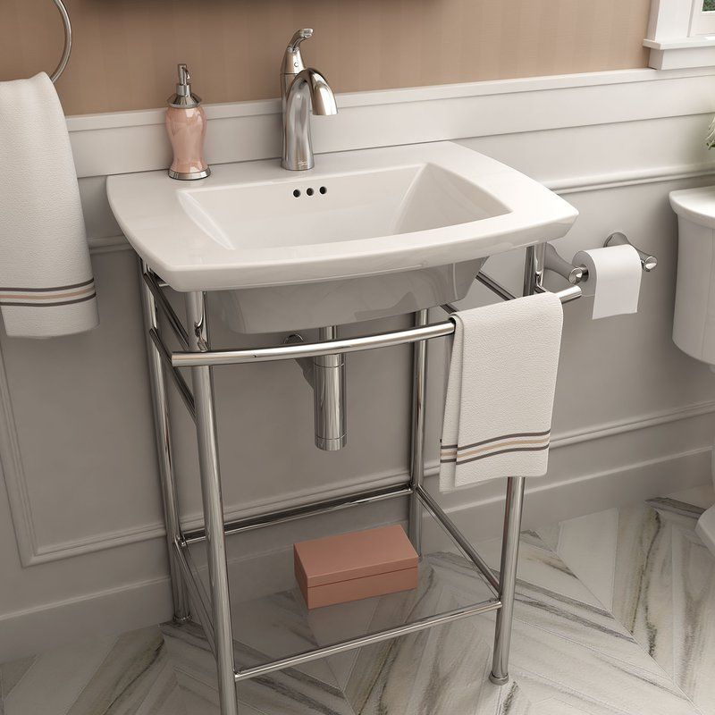 Loyola 25 Console Bathroom Sink With Overflow