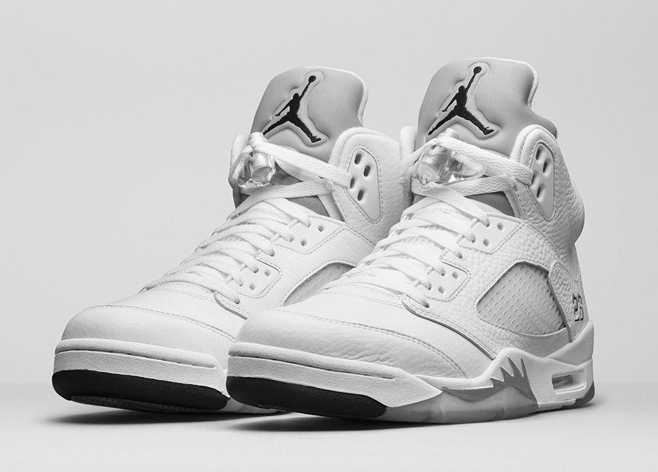 04918654721c35 Hot Online Nike Air Jordan 5 Retro Silver Green Bean Flint Grey ...