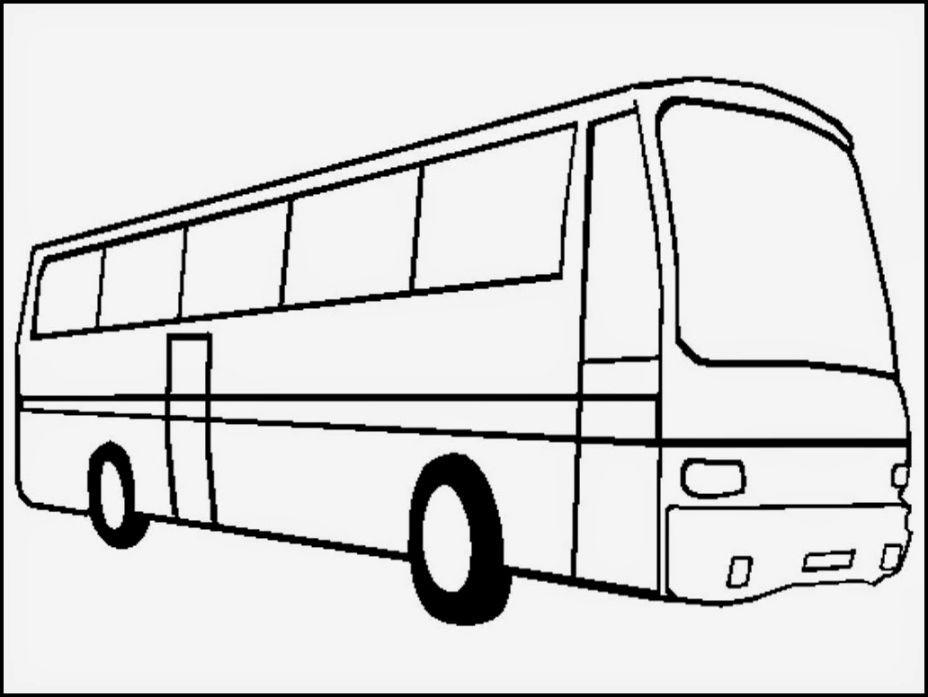 Bus Coloring Sheet Festa Infantil Desenho