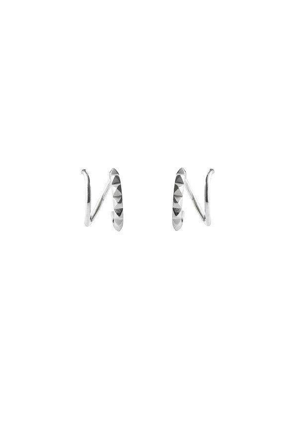 KLAXON TWIRL EARRING - SILVER  a45e1bb9174d2