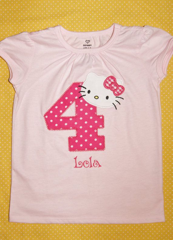 Personalized Hello Kitty Birthday Shirt