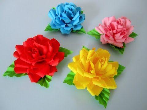 basteln mit papier rosen diy blumen basteln mit kindern origami rose geschenke selber machen. Black Bedroom Furniture Sets. Home Design Ideas