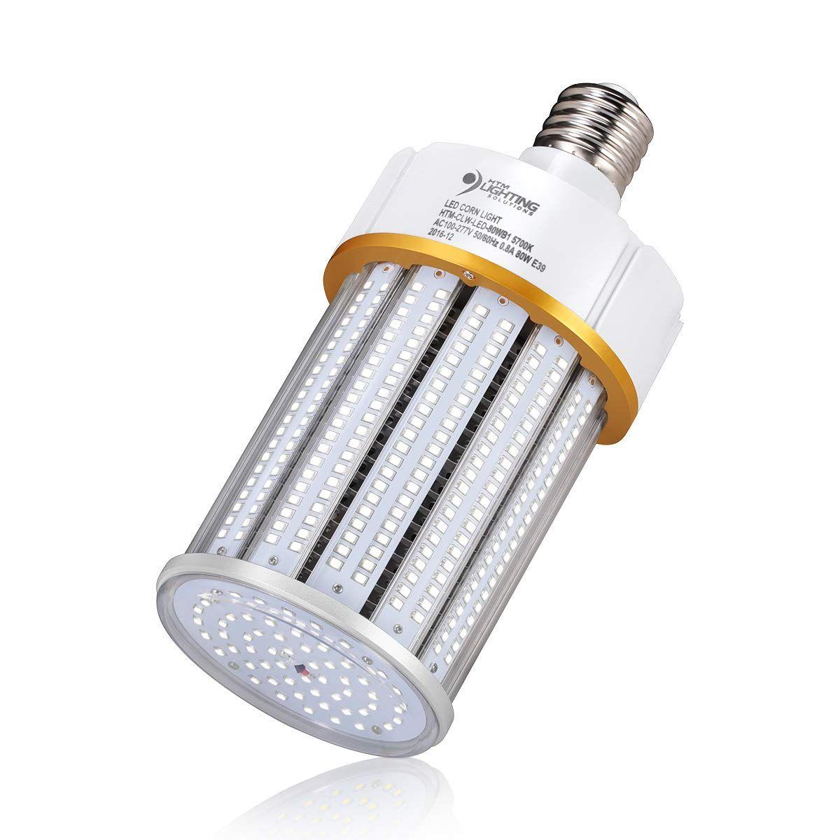 80w Led Corn Light Bulb 250 400 Watts Metal Halide Hps Replacement Large E39 Mogul Screw Base Ul Listed And Dlc Quali Led Bulb Light Bulb High Bay Lighting