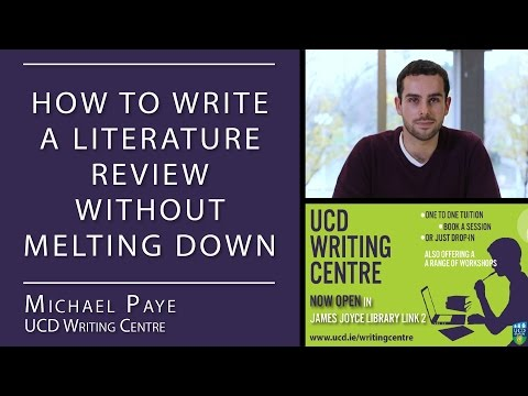 9 How To Write A Literature Review Ucd Writing Centre Youtube Writing Center Writing Literature