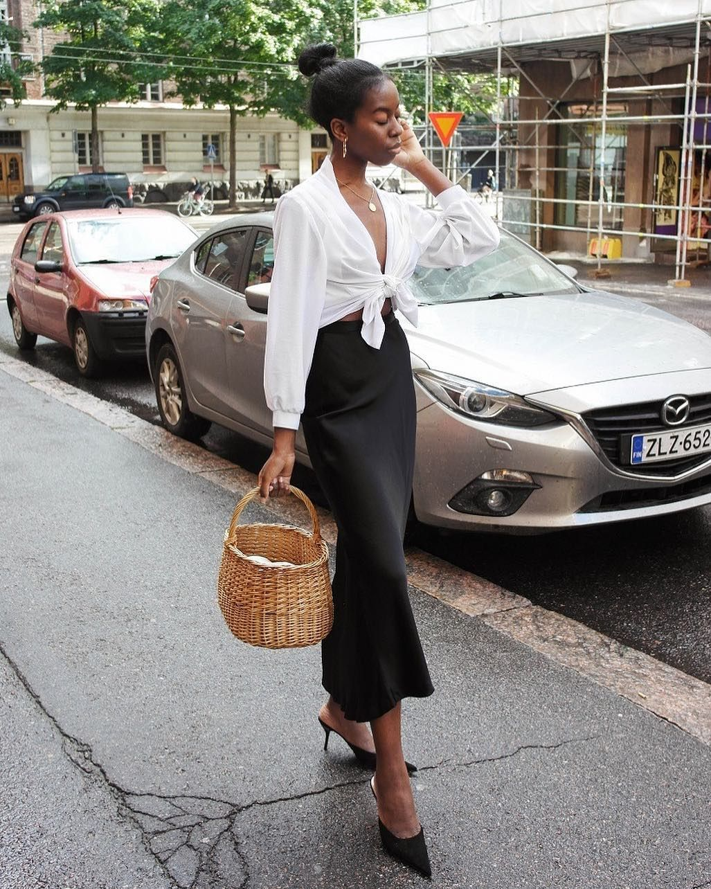 """French Girl Daily on Instagram: """"French girl style in Helsinki � @sylviemus_"""""""