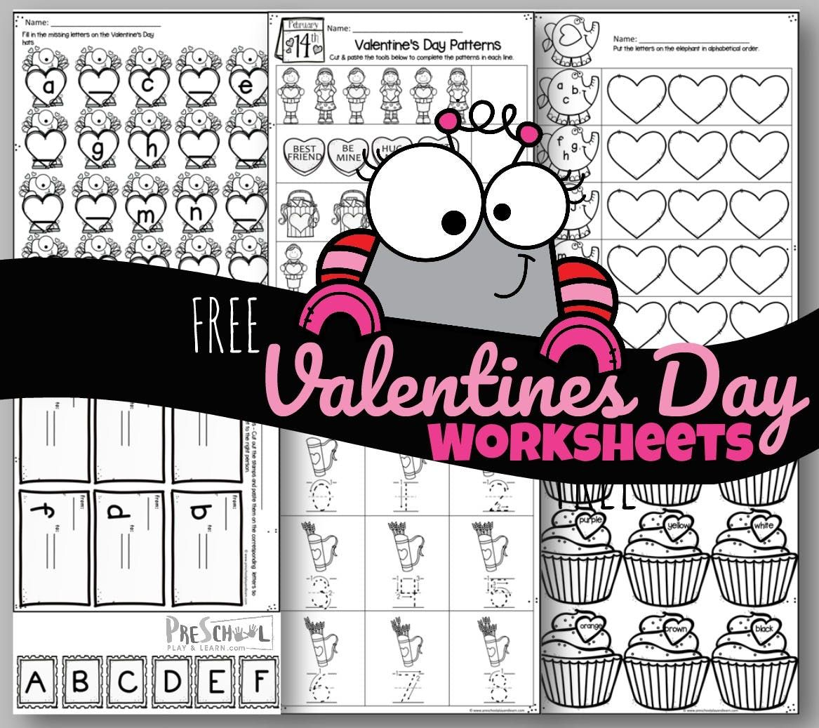 Free Valentines Day Worksheets In With Images