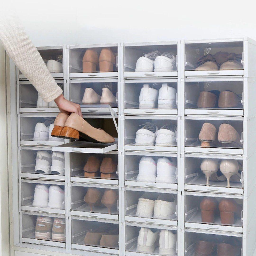 Drawer Type Shoe Box – justiyou.com   Shoe storage, Shoe box, Drawers