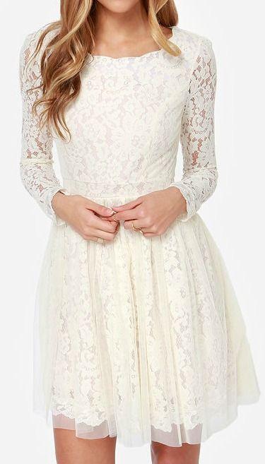 Be-Gauze I Love You Cream Lace Dress | Ideas | Pinterest ...