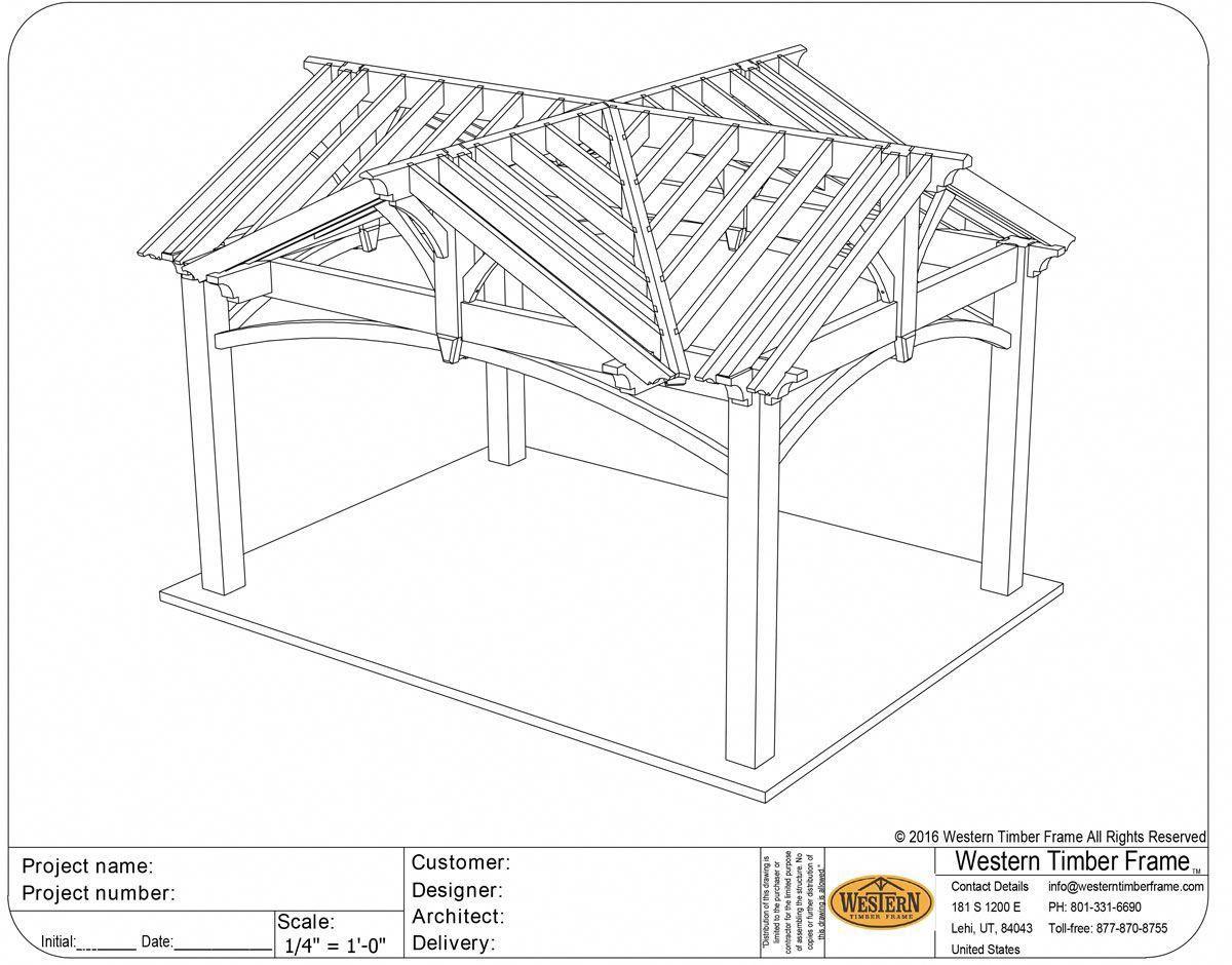 4 Gable Diy Pavilion Plan Pergolakitsdiy