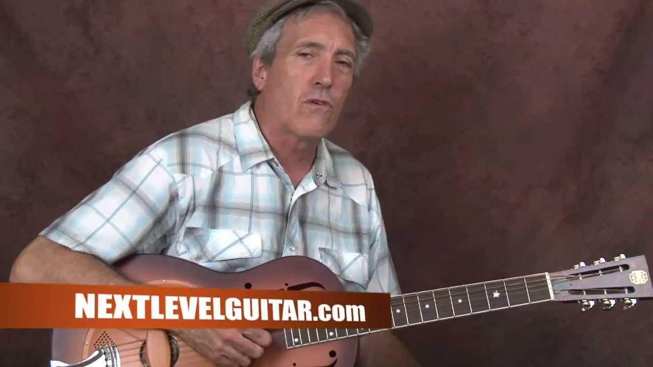 Learn Delta Blues Slide guitar Son House inspired open G