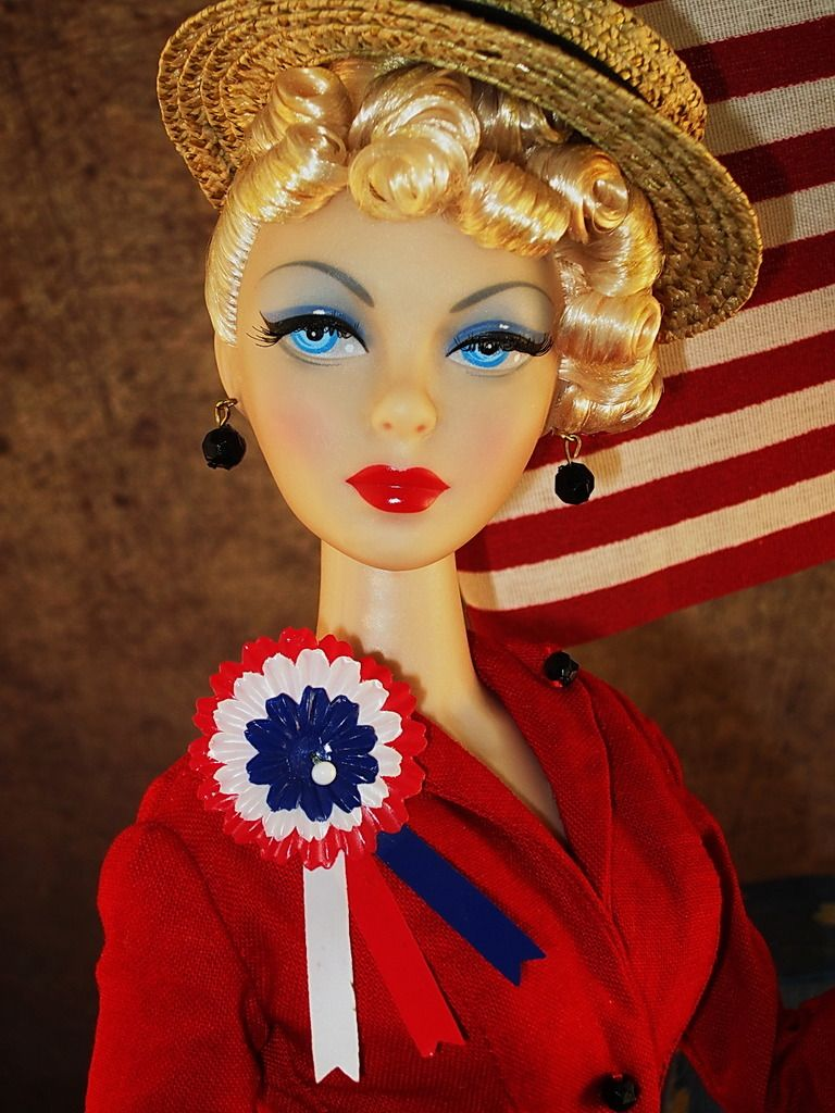 The Studio Commissary: Miss Patriot.......(2 PICS)  -  Posted by Megin in Portland [Email User] on July 2, 2016, 10:19 am.  Miss Patriot wears a beautifully made suit found on Ebay for $20.85! Now that's something to celebrate!