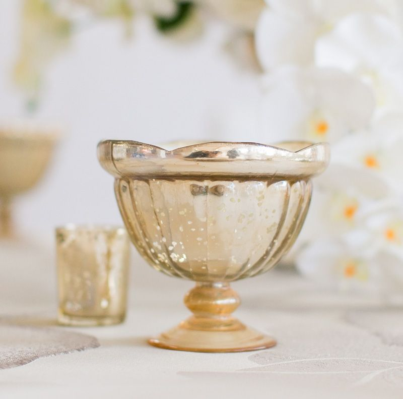 Gold mercury glass carraway compote bowl for wedding