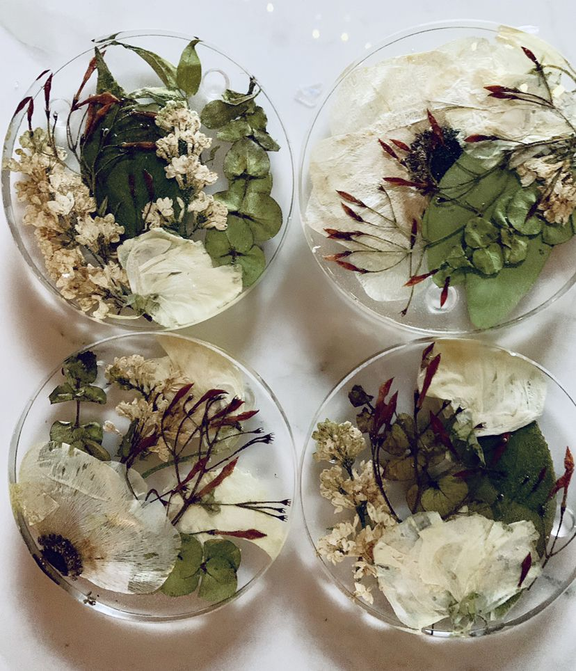 I love preserving flowers in resin items! It brings a new