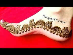 Half Mandala Leg Mehndi Design Easy Simple Henna Mehendi Pattern