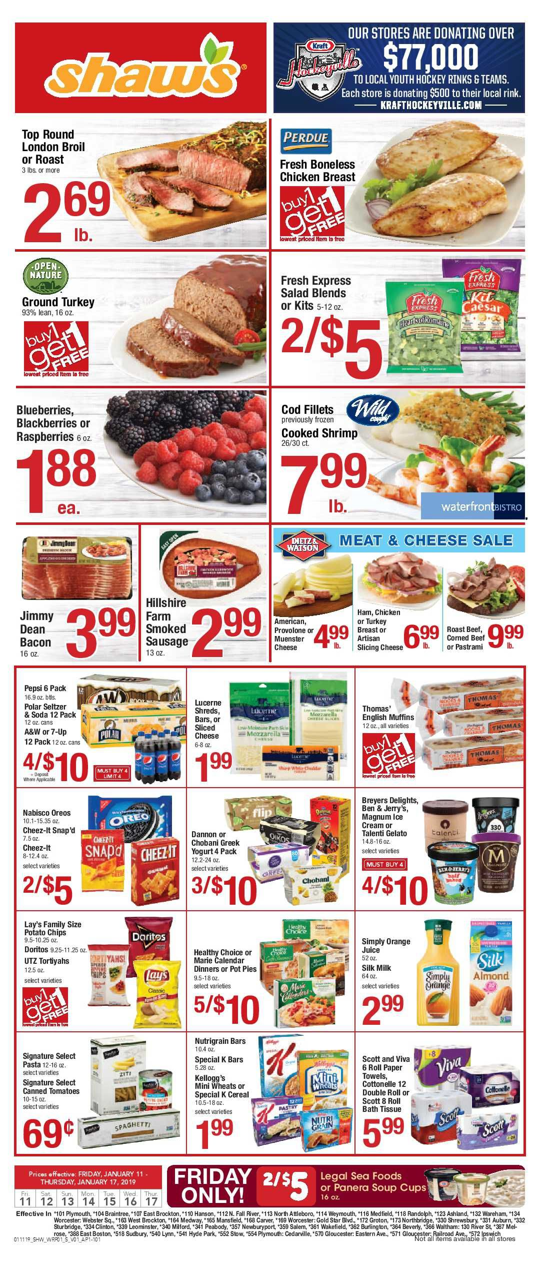 Shaw's Weekly ad Flyer January 18 - 24, 2019 | Weekly Ad