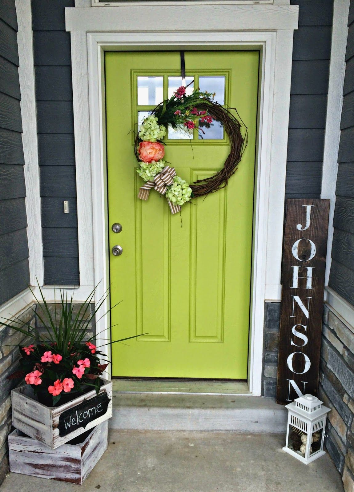 my green front door lime green decor pinterest green