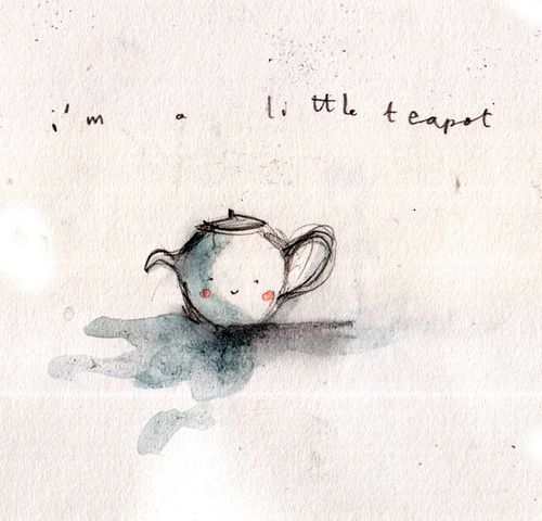 a sea of love blog. http://seaoflove.tumblr.com/post/4611284788/tawnyfeathers-artpixie-teapot-by-kate