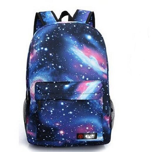 3D Galaxy Print Canvas Backpacks 2017 New Teenagers Printed School ...