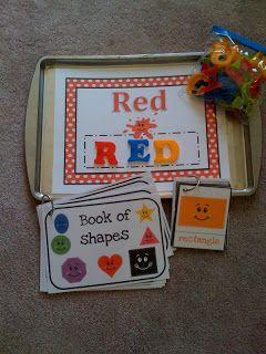 un librito con formas colores tamaños.. ideal para infantil !!