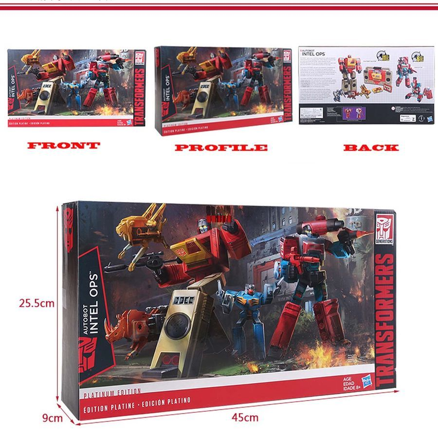 Transformers G1 Platinum Edition Autobots Inter Ops BLASTER PERCEPTOR Gift