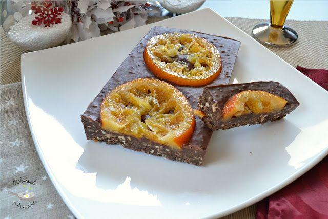 Deliciosa receta de Turrón de chocolate y naranja de Disfrutando de la Cocina