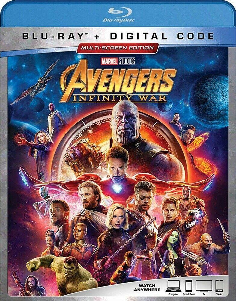 Classic Superhero Bluray Dvd Marvel Avengers Infinity War Iron Man