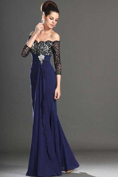Vestido largo de gala | Vestidos de Gala | Pinterest | Vestido largo ...