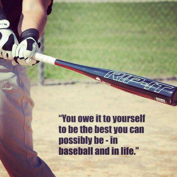 Best Baseball Quotes Be your best. #baseball #bat #performance #motivational  Best Baseball Quotes