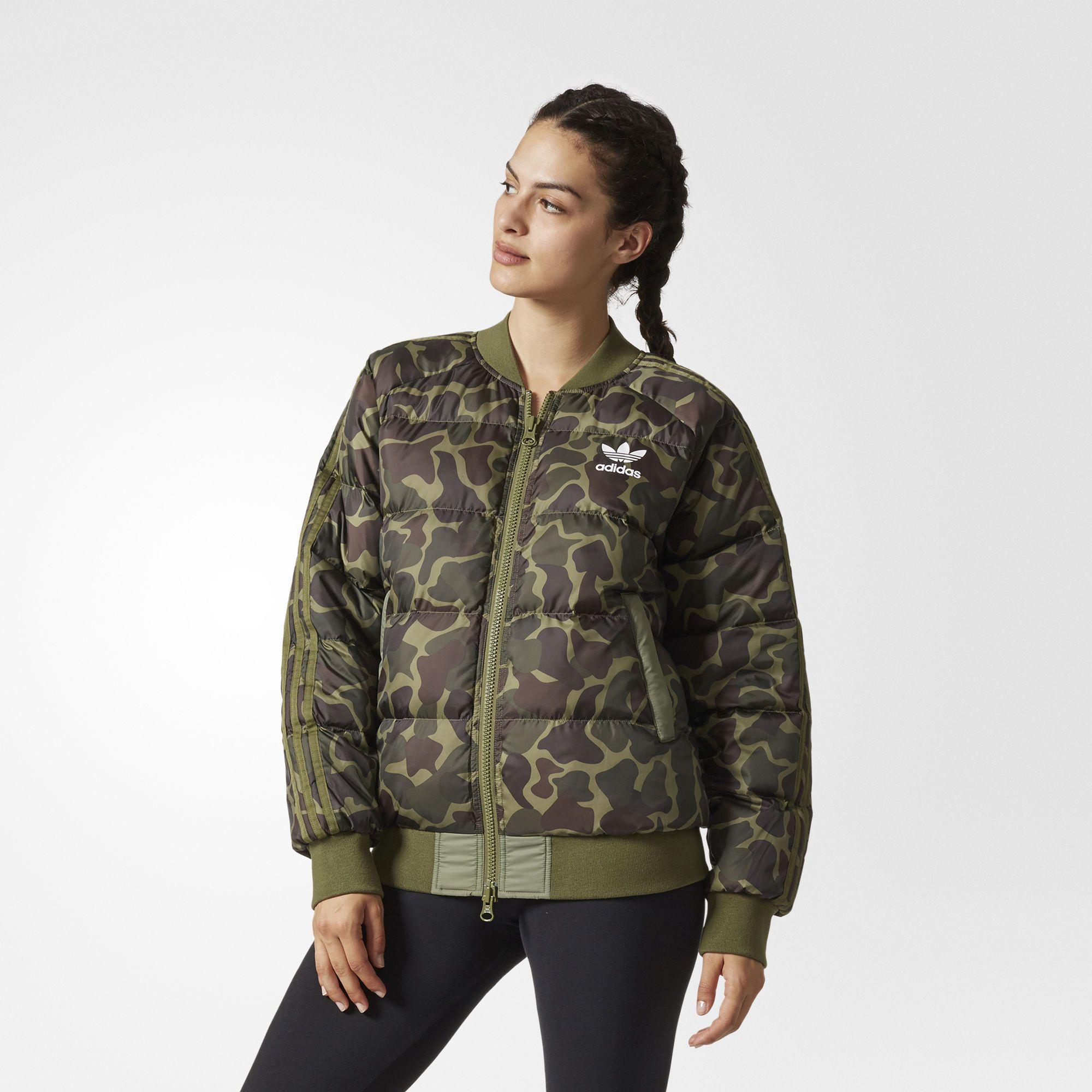 adidas Pharrell Williams Hu Hiking Camo SST Jacket - Womens Jackets ...