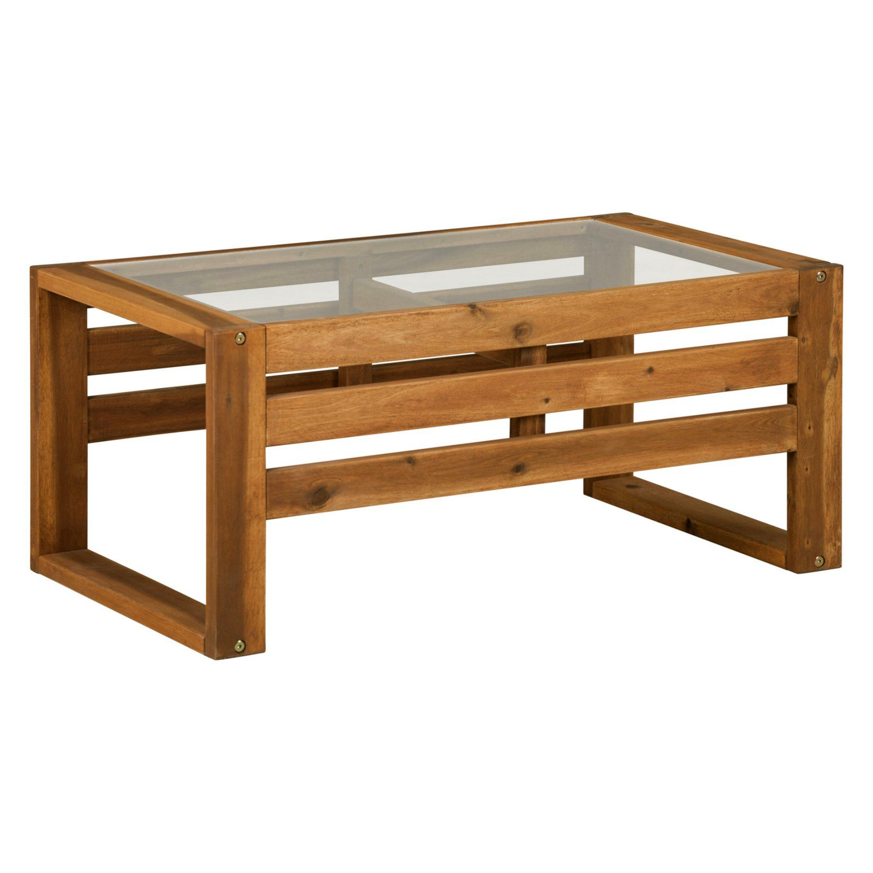 Outdoor Walker Edison Open Side Wood Coffee Table  Hnwosctbr