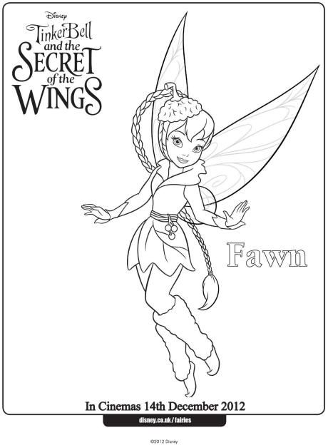 Fawn Colouring Page Tinkerbell Coloring Pages Fairy Coloring