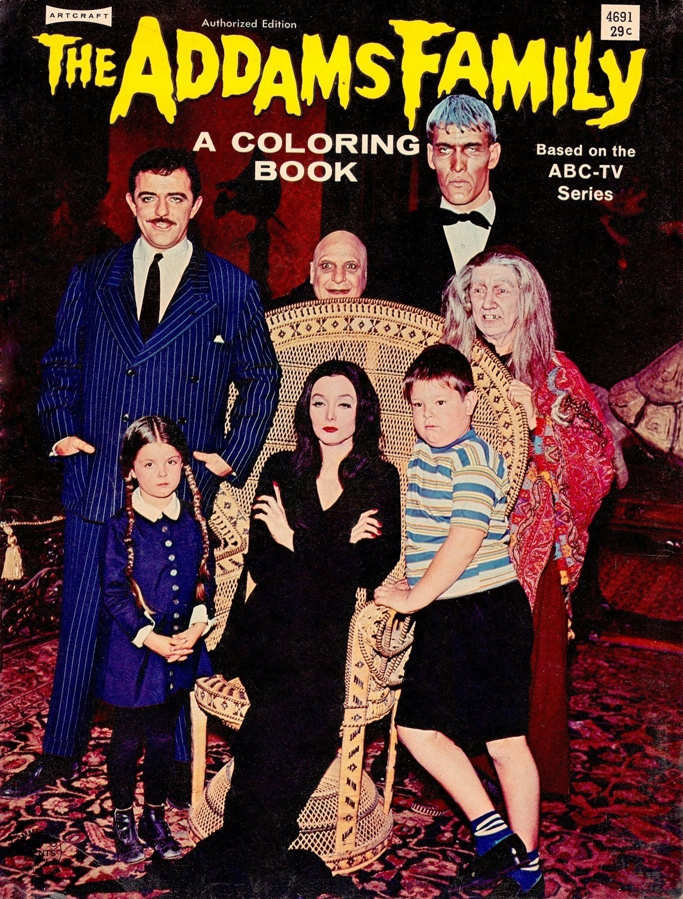 Addams Family Rare Vintage Coloring Book 1965 From My Collection Follow Minkshmink On Pinterest Theaddams Vintage Coloring Books Coloring Books Little Books