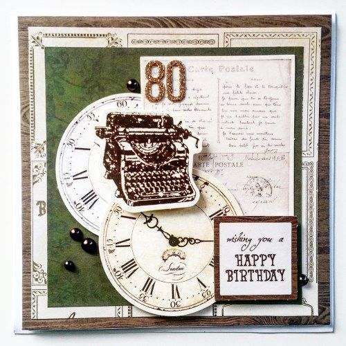 80th Birthday Card Male By Amanda Baldwin Design Team For Kaisercraftau Using Mademoiselle Collection Cards 1