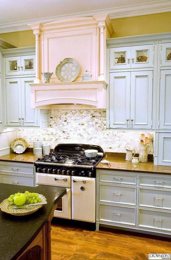 Pale Blue Kitchen Cabinets