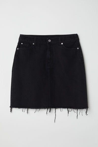 98aebc8e5548 Jeanskjol in 2019 | skirts | Denim skirt outfit winter, Denim skirt, Black  denim skirt