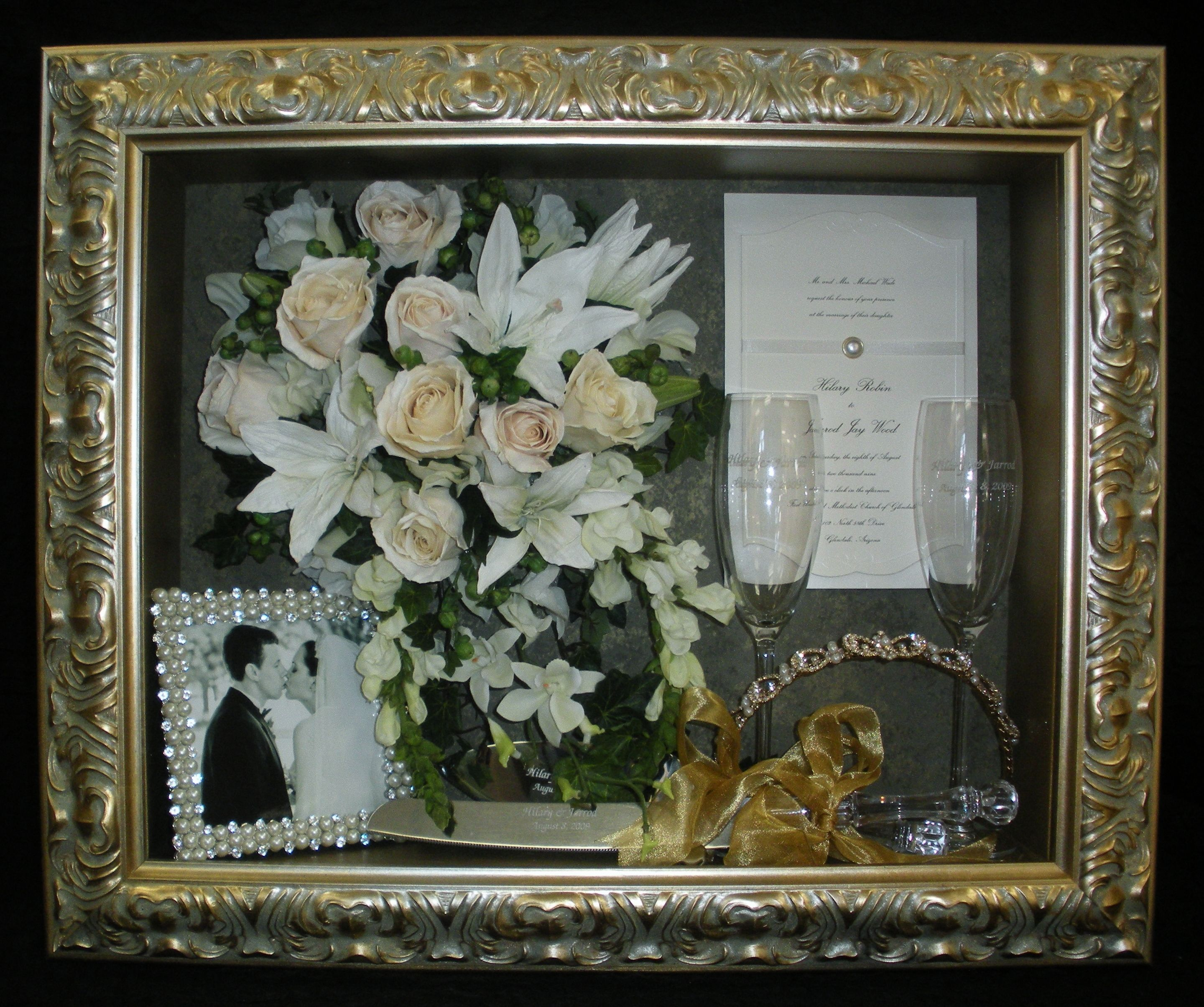 Freeze Dried Wedding Bouquet Flowers In Our Custom Shadow Box Facebook