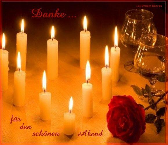 Danke für den schönen Abend   Romantic candles, Candles