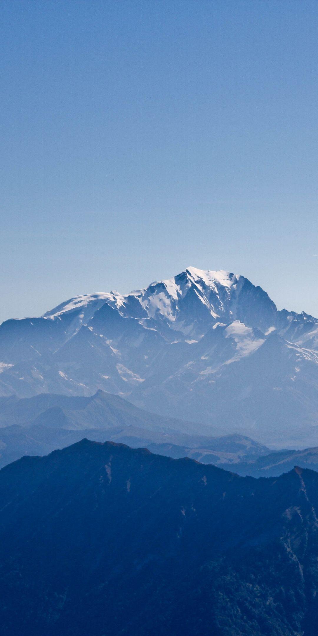 Horizon Mountains Range Nature Sky 1080x2160 Wallpaper Blue Sky Wallpaper Calming Backgrounds Hd Phone Wallpapers