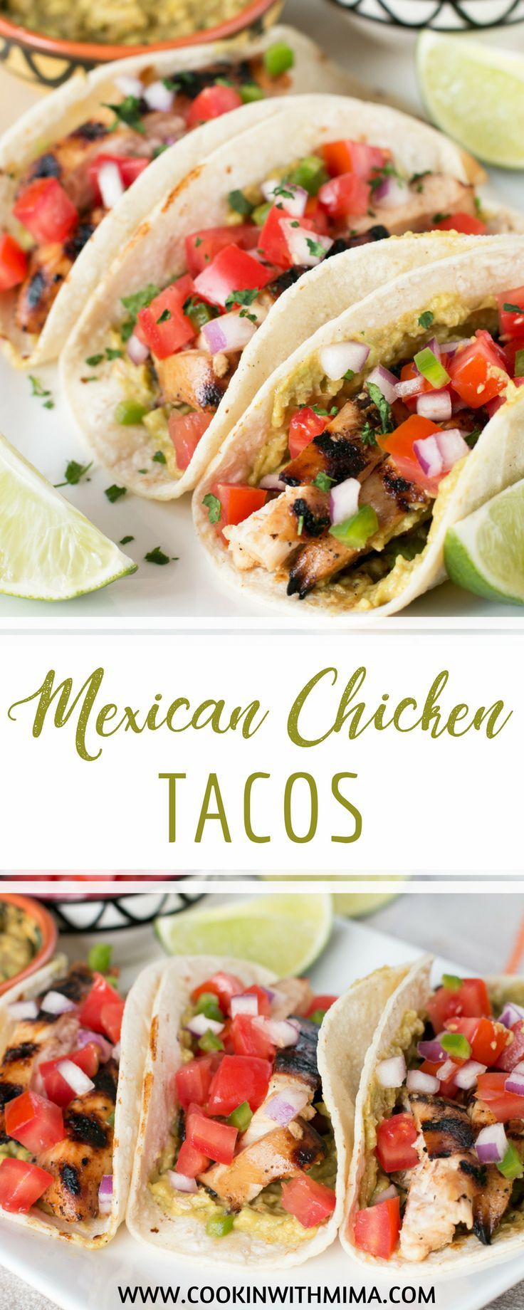 Mexican Chicken Tacos #mexicanchickentacos