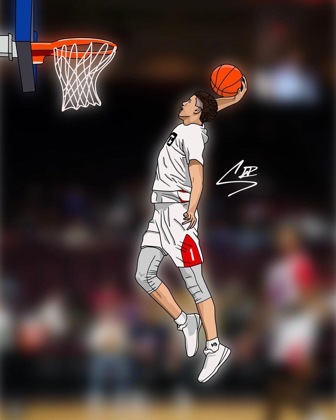 Follow for cartoon on instagram art of lamelo ball