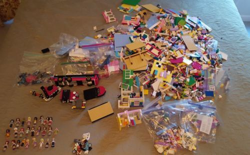 Large Lego Friends Lot Nearly 19 Pounds Of Legos Asst Instruction