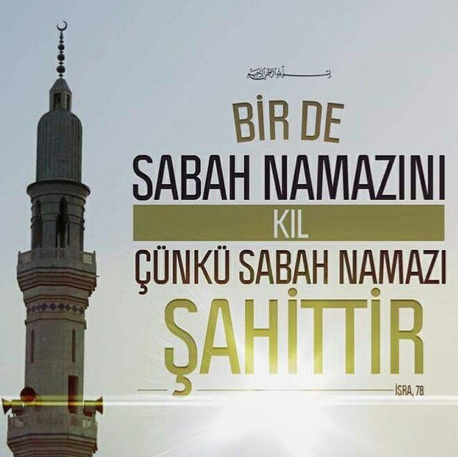 Bir de sabah namazını kıl çünkü sabah namazı şahittir. (İsra, 78)  #sabahnamazı #namaz #şahit #sabah #ayet #müslüman #hayırlıcumalar #türkiye #ilmisuffa