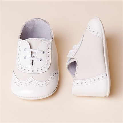 Beautiful Baptism Baby Boy Shoes Ivory or White Christening Baby Boy Shoes.