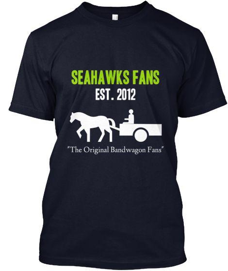 on sale 31963 cc921 Seattle Seahawks Bandwagon Shirts   funny shirts   Custom ...